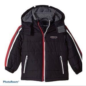 London Fog Boys 3T puffer jacket w removeable hood
